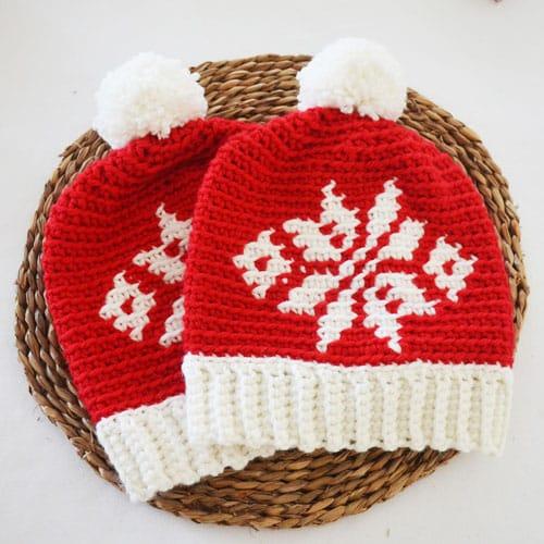 Gorro de Navidad a Crochet en todas las tallas