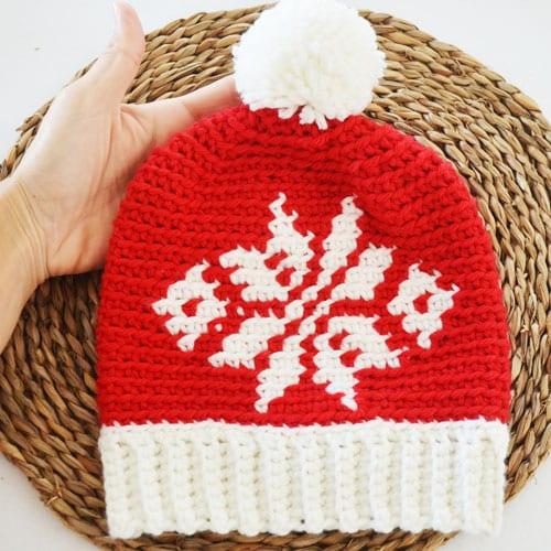 Patrón Crochet Navidad gorro