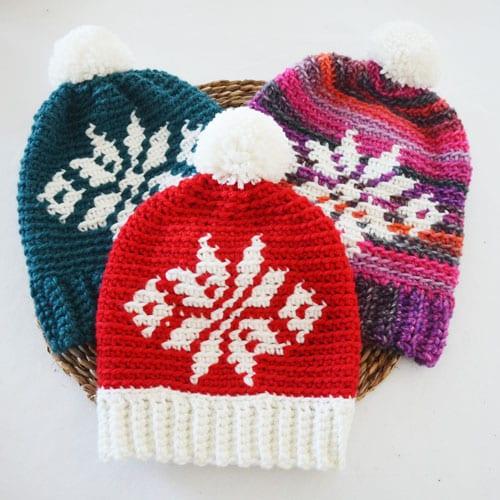 Gorro Estrella Fair Isle Crochet