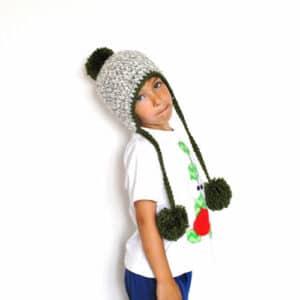 Gorro Crochet Peruano con pompon