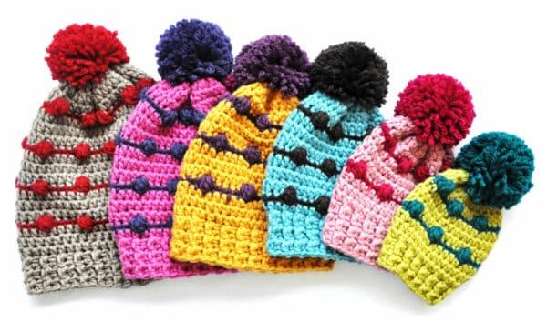 Popcorn Crochet Hat Pattern