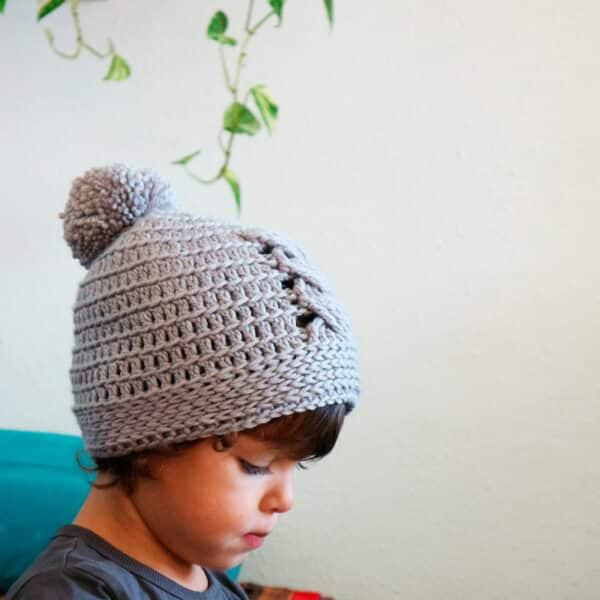 Patrón Crochet gorro con trenza todas las tallas
