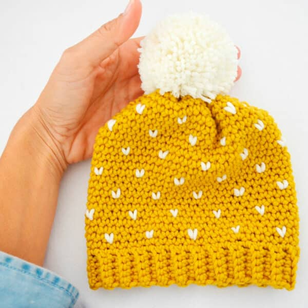 Patrón Gorro Fair Isle Crochet todas las tallas