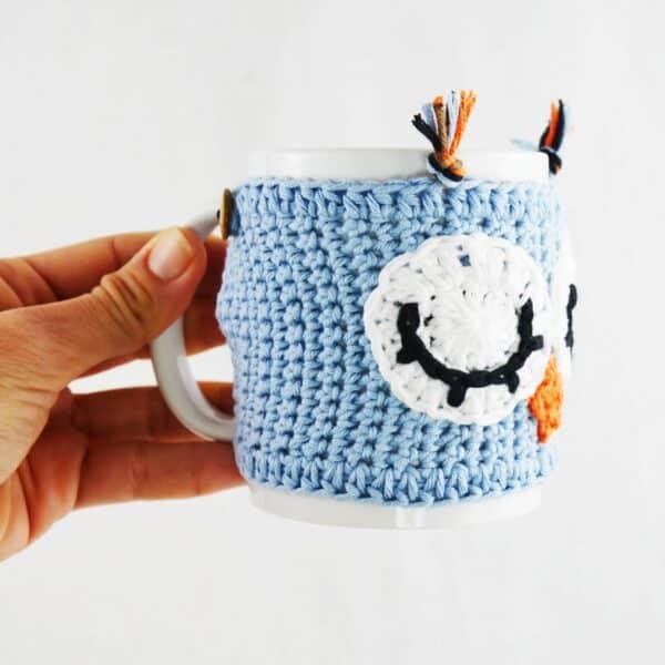 Patrón Crochet Funda Taza Búho de la Suerte