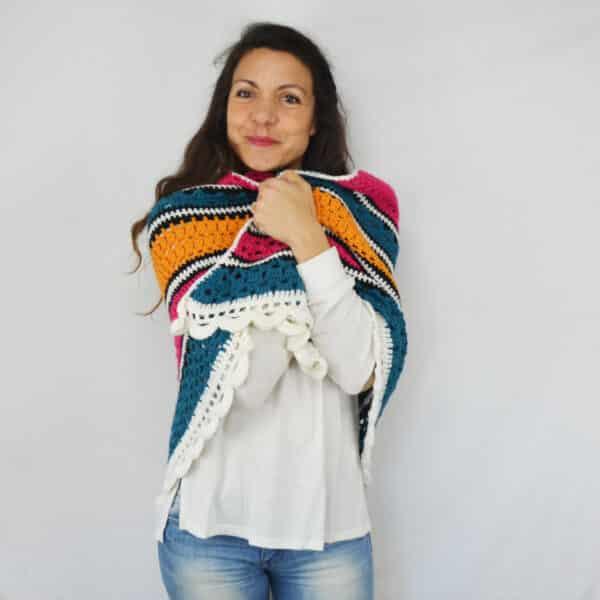 tutorial paso a paso para tejer un chal a crochet