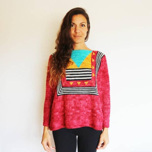 sweater coco boxy ganchillo