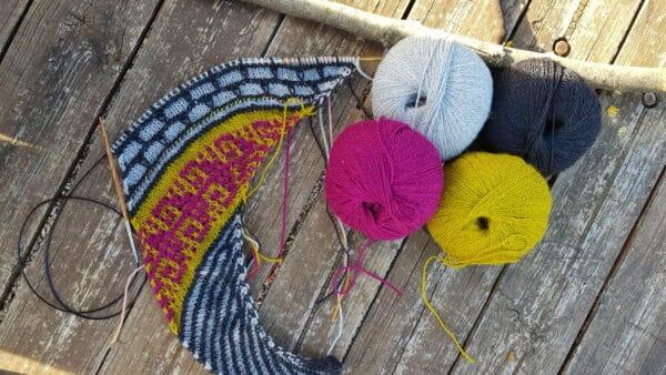 cómo tejer mosaic knitting