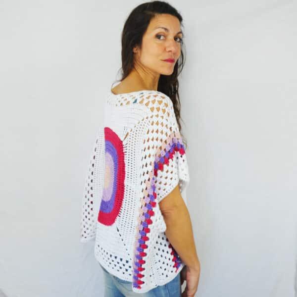 aprende a tejer una blusa de mujer