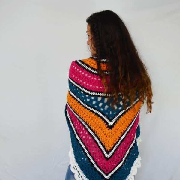 crochet top down shawl