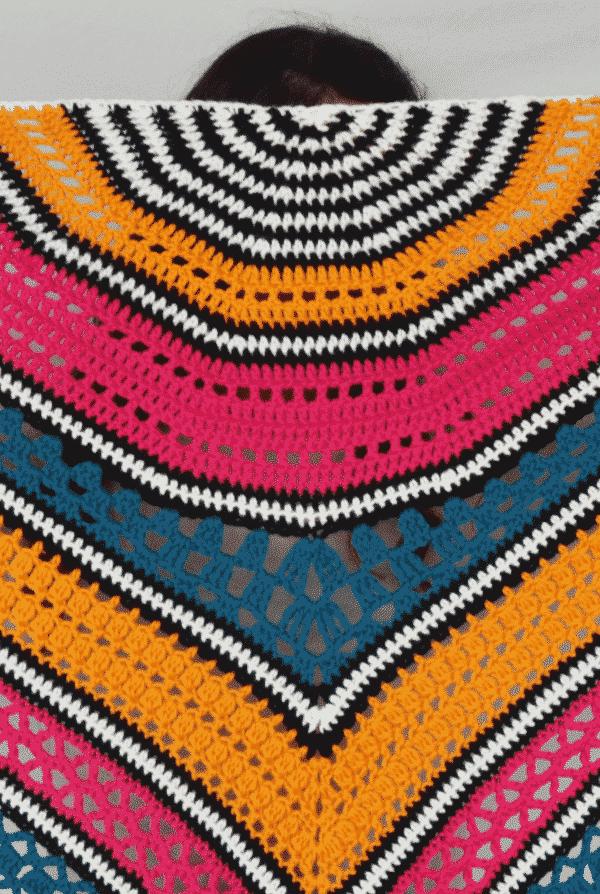 cómo tejer un chal en crochet