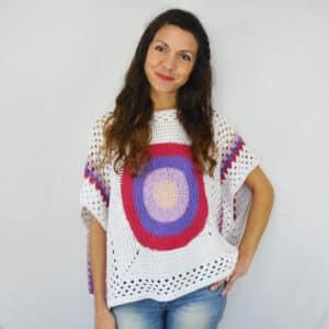Patrón Crochet BLusón Primavera por Cecilia Losada