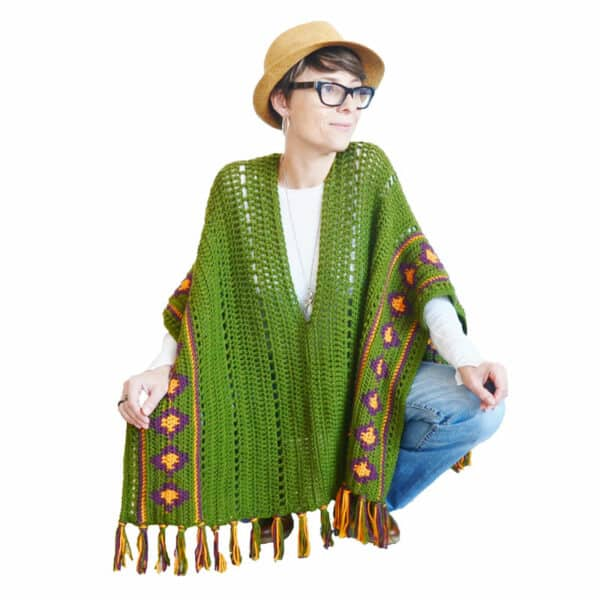 poncho en crochet estilo boho