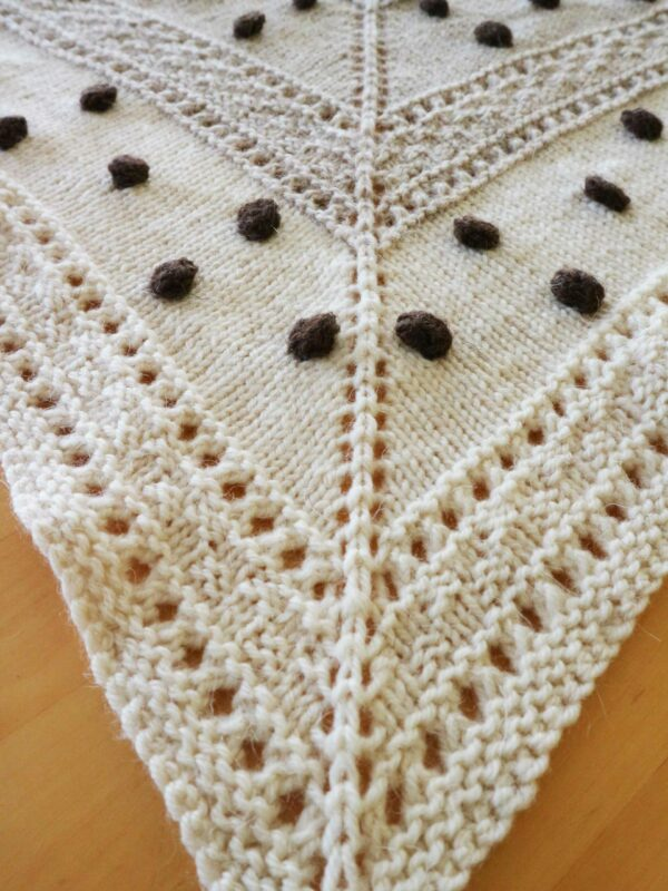 knitting pattern seed woman shawl
