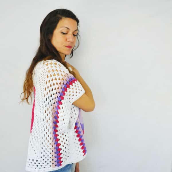 como tejer una blusa en todas las tallas