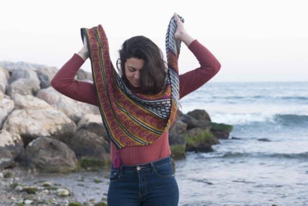 chal con mosaic knitting