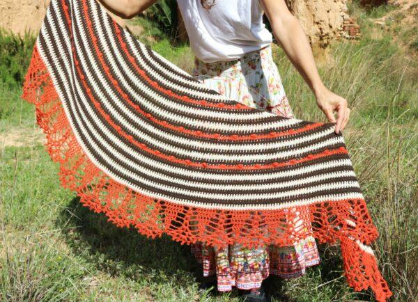chal crochet paso a paso