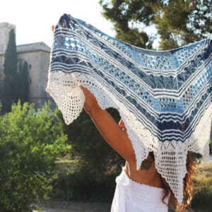Alchemy Shawl Crochet Knitting Pattern by Cecilia Losada