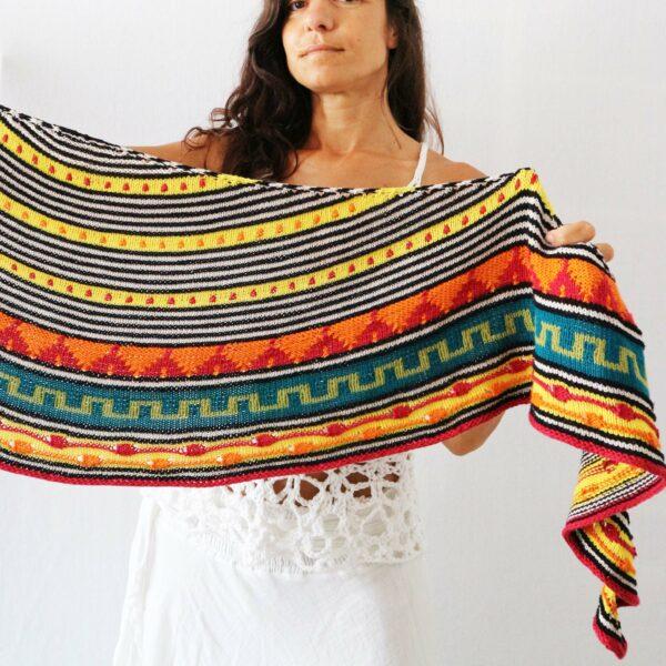 Tacuari Pora Shawl Knitting Pattern