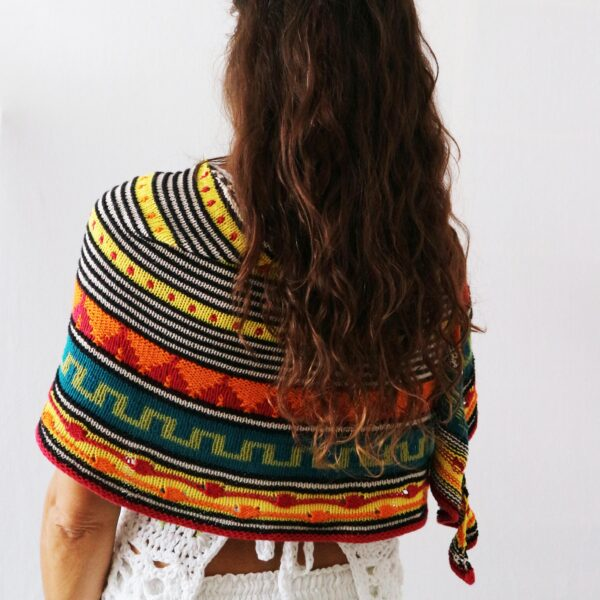 knitting shawl jacquard