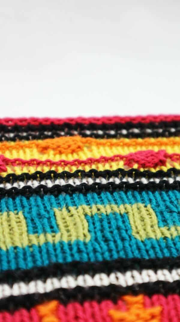 como tejer un chal con colorwork