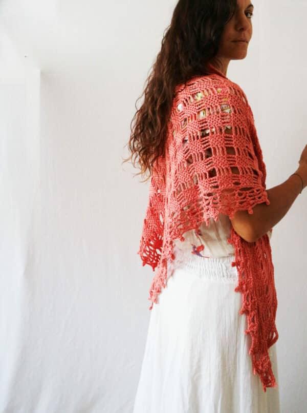 crochet pattern bougainvillea shawl