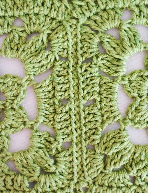 granny square con flor en crochet