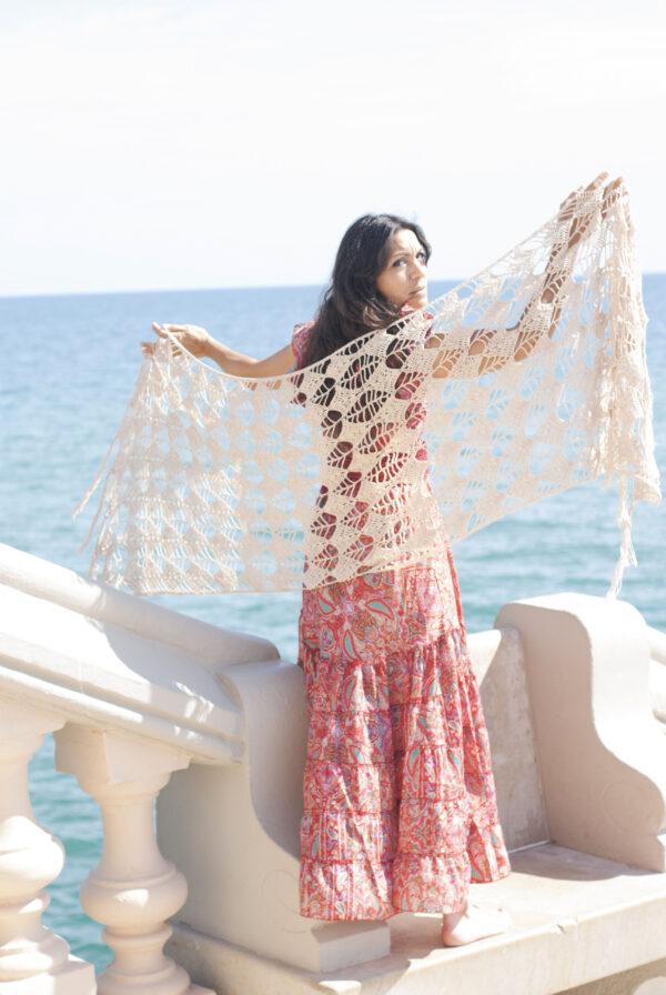 chal mujer casamiento en crochet