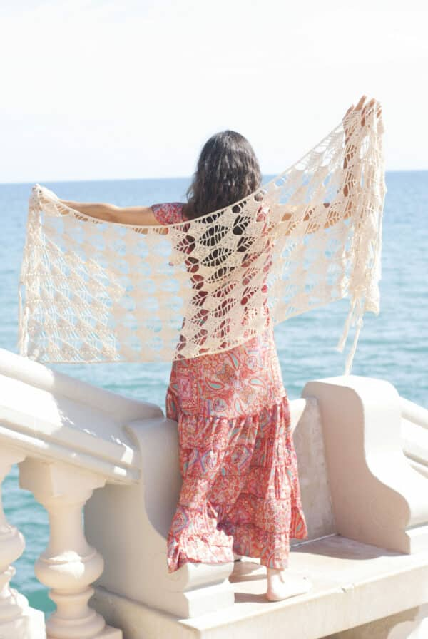 chal para casamiento espectacular en crochet