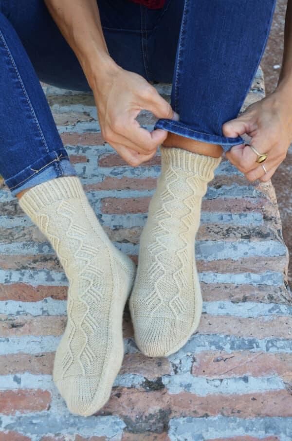 como tejer calcetines