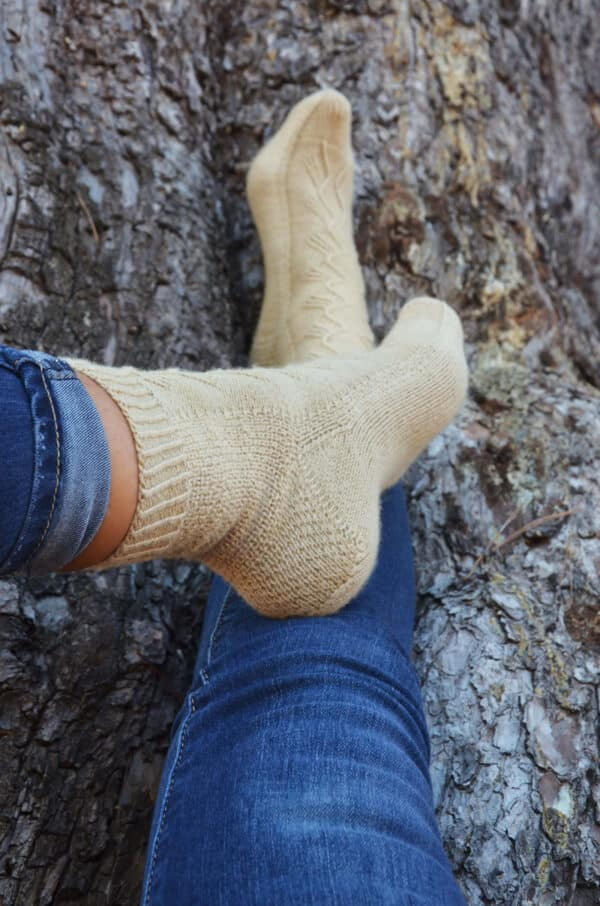 como tejer calcetines de la caña a la puntera