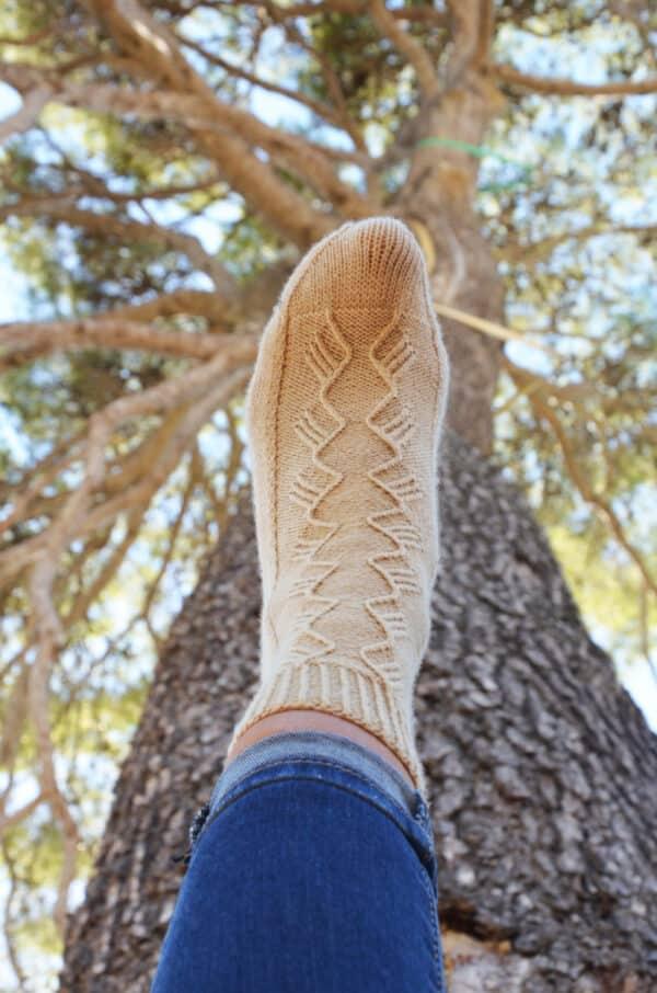 calcetines con talón heel flap
