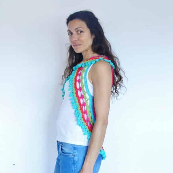 chaleco verano mandala crochet