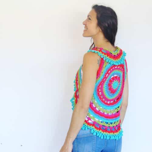 tutorial paso a paso chaleco crochet