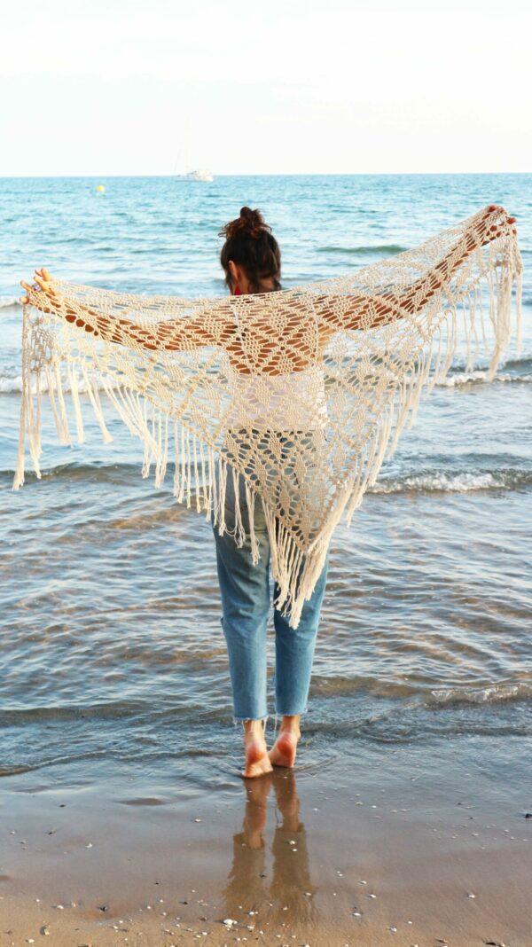 patrón chal crochet