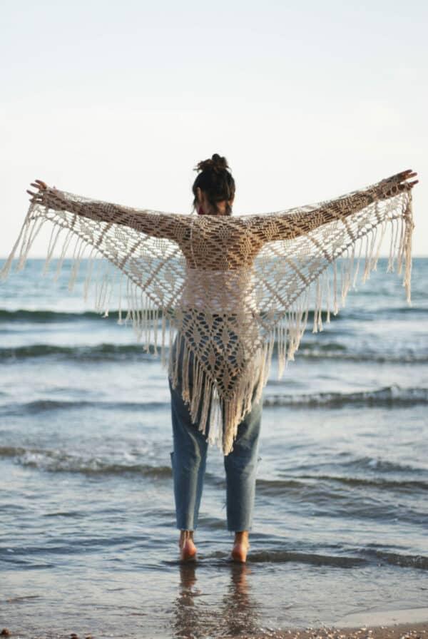 chal triangular muy facil en crochet
