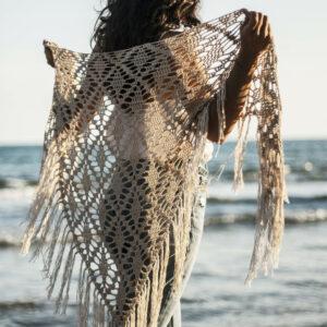 patrón crochet chal wild sunset
