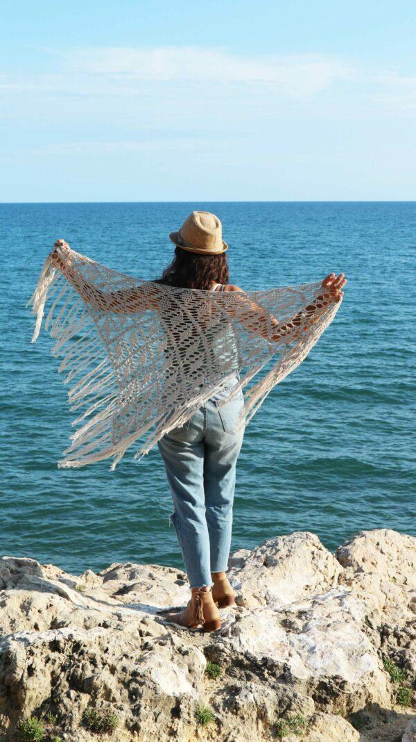 patrón chal fácil en crochet