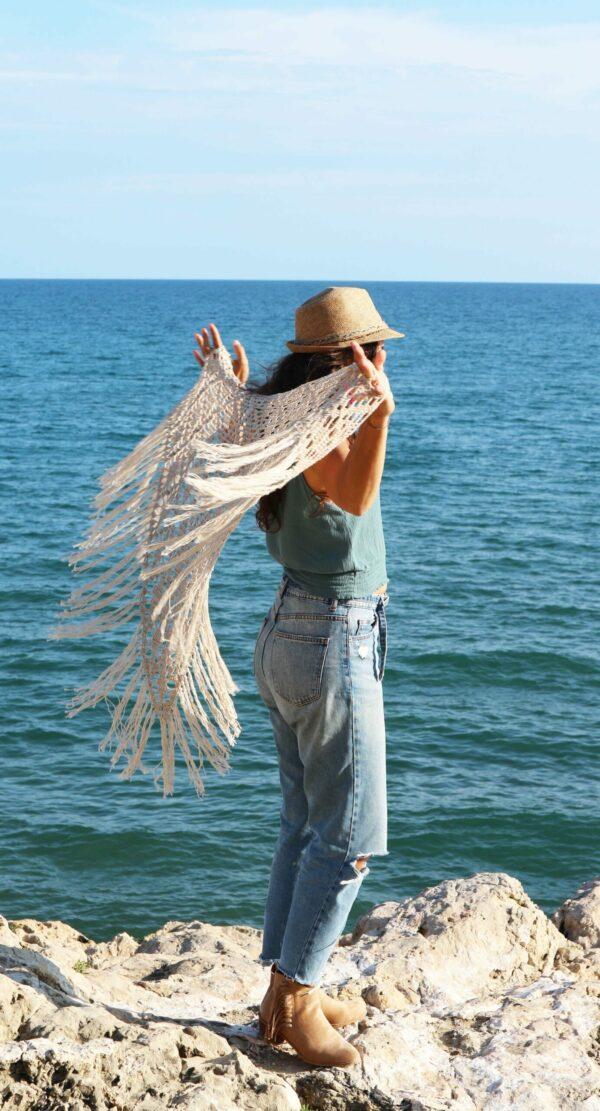 chal de verano para la playa mujer