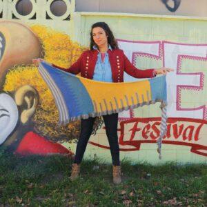 patrón crochet chal escaleras al cielo por Cecilia Losada