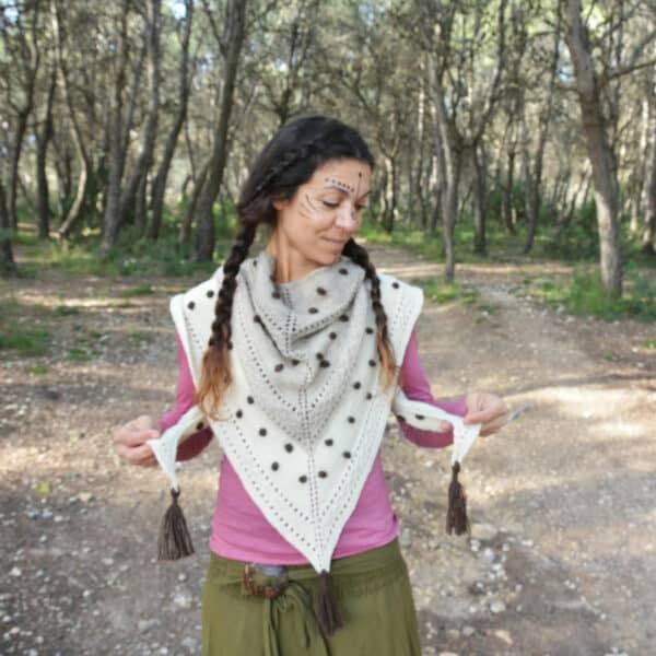 how to knit a triangular shawl