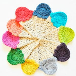 Patrón Crochet Banderola de Heladitos por Cecilia Losada de mammadiypatterns
