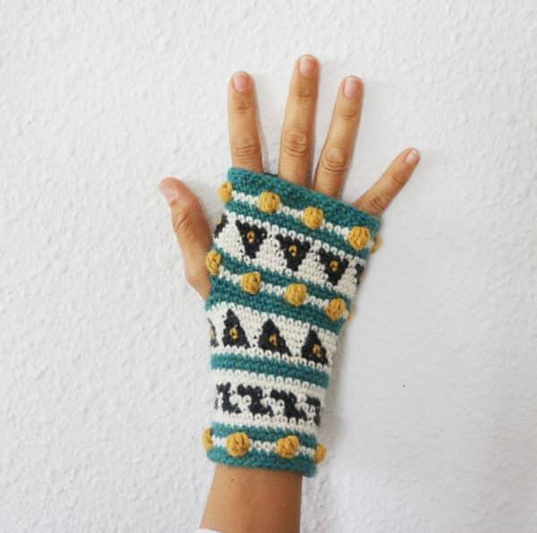 mitones sin dedos en crochet