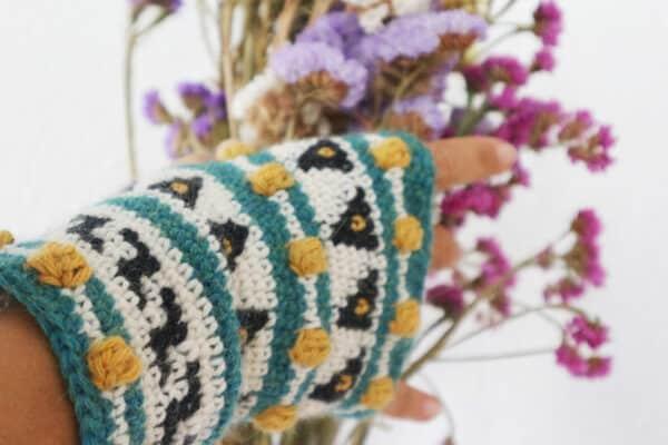 tejer mitones con tapestry