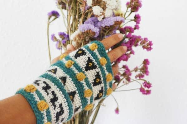 como tejer mitones sin dedos en crochet