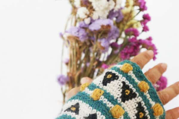 mitones tapestry crochet alpaca