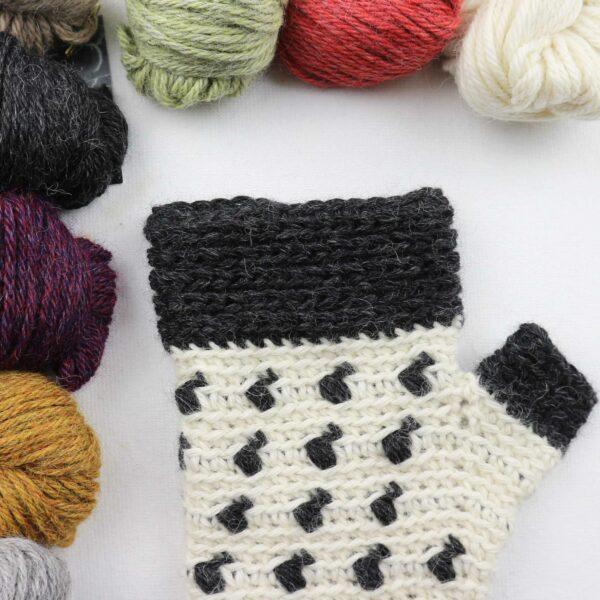 como tejer unos mitones sin dedos en crochet