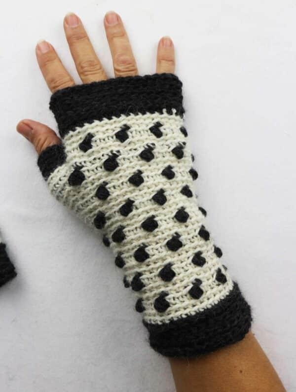patron crochet paso a paso guantes