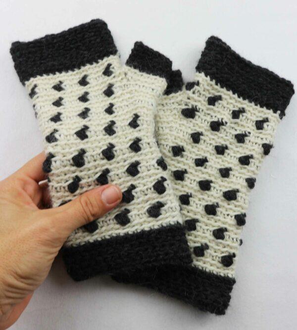 guantes sin dedo mitones crochet