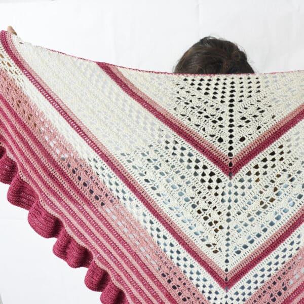 tejer un chal flamenco a crochet