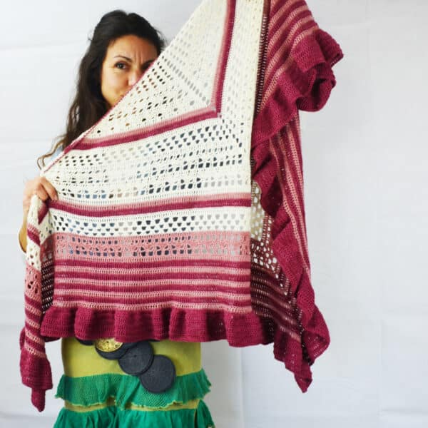 crochet pattern flamenco shawl